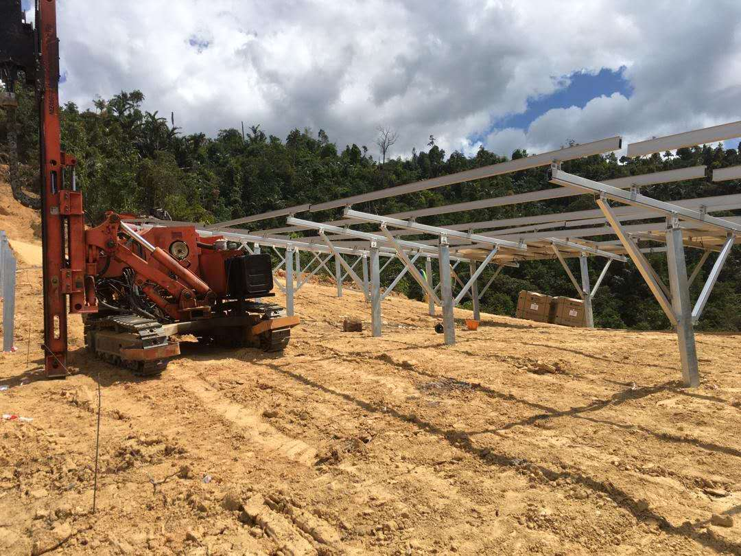 48.9MW Ramming Pile Ground Mounting Project in Malaysia 2020