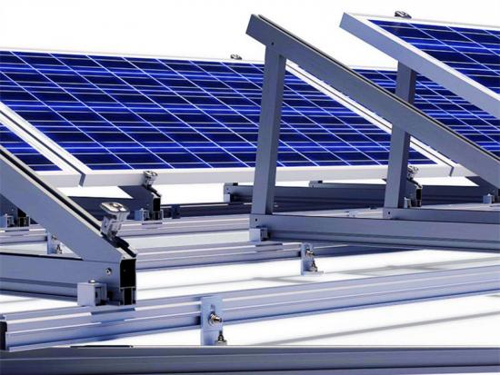 Adjustable triangle mounting system solar bracket on roof
