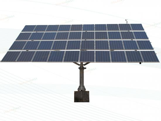 40-panel Dual Axis Solar Tracker